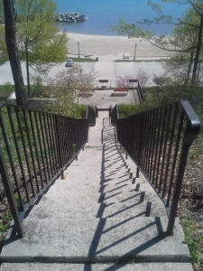Lake Forest Beach Stairs