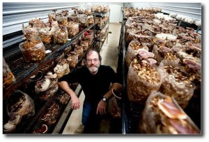 Paul Stamets in one of his research facilities.